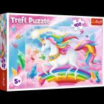 TREFL Puzzle 100 el. UNICORN Jednorożec, W kryształowym świecie jednorożców (16364)