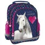 ZESTAW 4 el. Plecak szkolny I LOVE HORSES Konie (PL15BKO17SET4CZ)