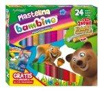 Plastelina BAMBINO 24 kolory + podkładka (01901)