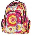 Plecak szkolny młodzieżowy COOLPACK SPARK w kwiaty HIPPIE 573 (62350)