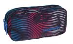 Piórnik CoolPack PRIMUS saszetka trzykomorowa w kolorowe paski, FLASHING LAVA 947 (70423)