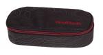 Piórnik szkolny COOLPACK CAMPUS czarny z czerwonymi dodatkami, TOPOGRAPHY RED 981 (71291)
