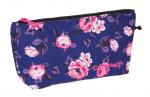Saszetka, torba termiczna COOLPACK ICEBERG granatowa w pastelowe róże, ROSE GARDEN 1093 (83010)