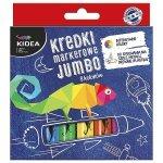 Kredki markerowe do różnych powierzchni 8 kolorów JUMBO KIDEA (KMJ8KA)