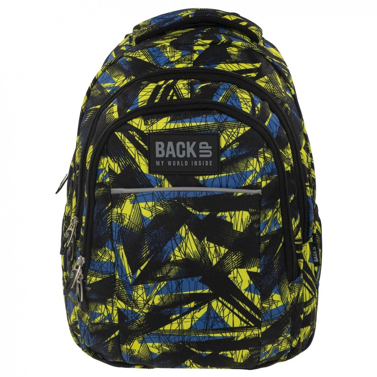 b63c87960fa25 Plecak szkolny młodzieżowy Back UP kolorowe wzory ABSTRACT ART (PLB1H29)