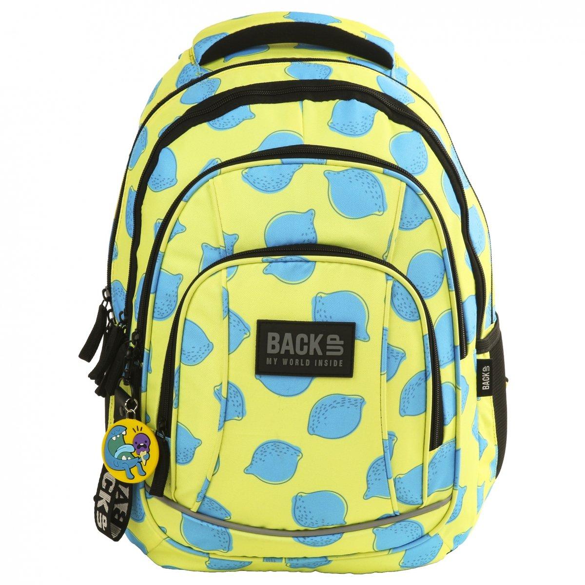 Plecak szkolny młodzieżowy BackUP LIMONKI (PLB2A23