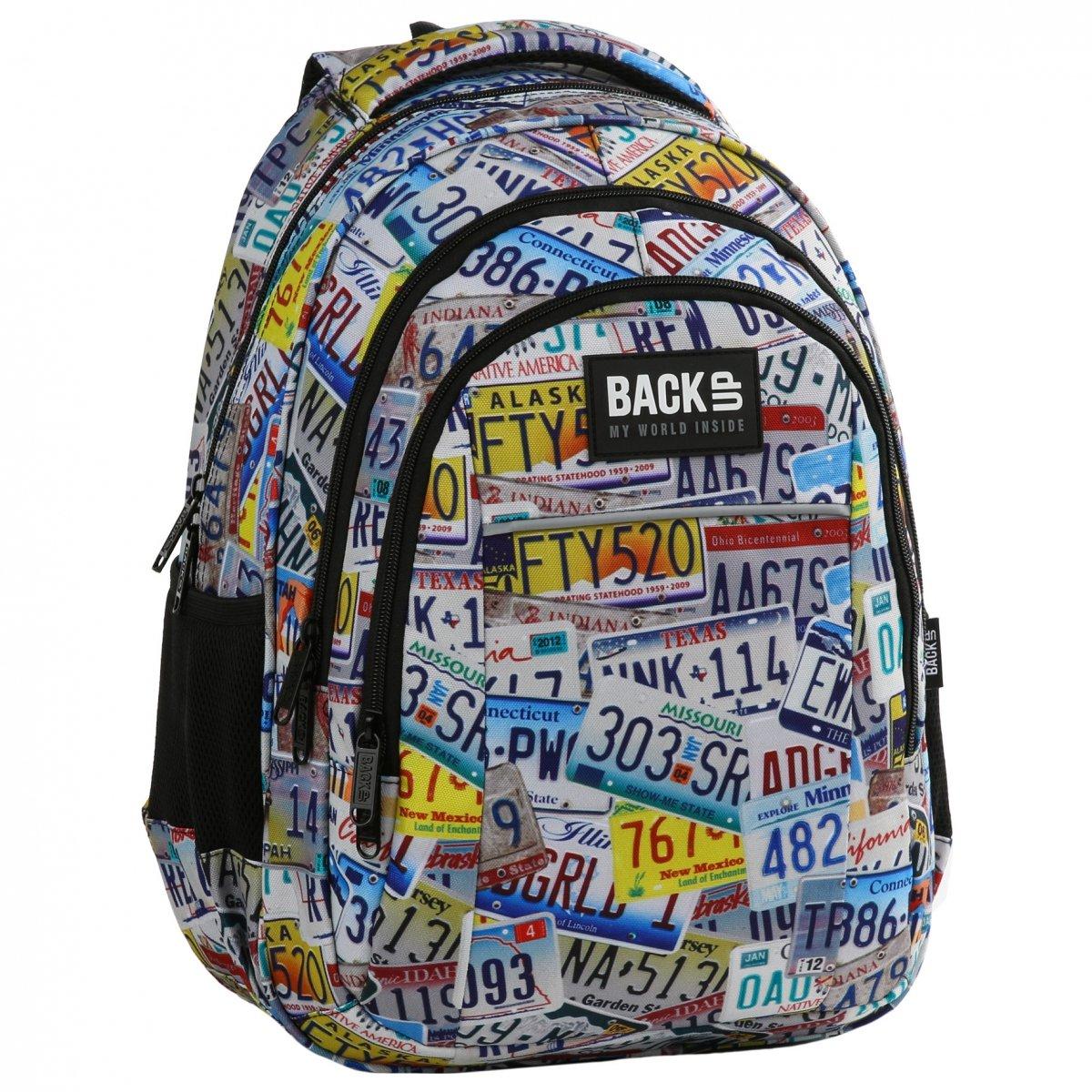 541b69c04f498 Plecak szkolny młodzieżowy BackUP TABLICE (PLB2H41)