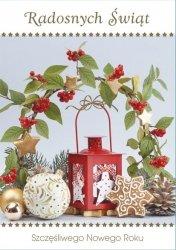 Kartka świąteczna BOŻE NARODZENIE 12 x 17 cm + koperta (41308)