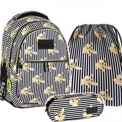 ZESTAW 3 el. Plecak szkolny młodzieżowy BackUP ZŁOTE RYBKI (PLB2N16SET3CZ)