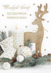 Kartka świąteczna BOŻE NARODZENIE 12 x 17 cm + koperta (47521)