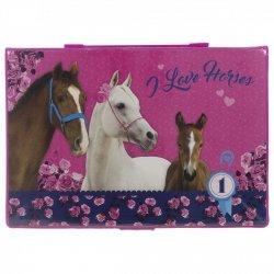 Zestaw artystyczny 71 elementów I LOVE HORSES Konie (ZA71KO14)