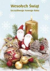 Kartka świąteczna BOŻE NARODZENIE 12 x 17 cm + koperta (43848)