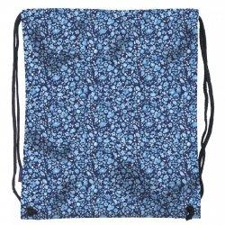 Worek na obuwie Back UP w drobne niebieskie kwiatki BLUE FLOWERS (WOB1A14)