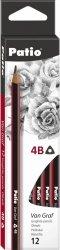 Ołówek szkolny trójkątny VanGraf 4B PATIO (44554PTR)