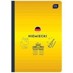 Zeszyt tematyczny przedmiotowy A5 60 kartek w kratkę NIEMIECKI (30195)