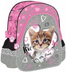 Plecak szkolno-wycieczkowy St. Majewski, My Little Friend CAT PINK kotek w różu (05019)