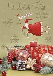 Kartka świąteczna BOŻE NARODZENIE 12 x 17 cm + koperta (41316)