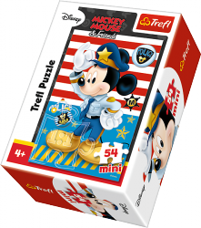 TREFL Puzzle mini 54 el. Myszka Mickey, Policjant (19555)