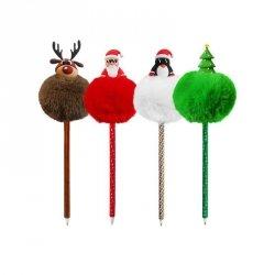 Długopis świąteczny z pomponem CHOINKA INCOOD.  (0106-0269)