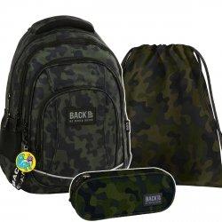 ZESTAW 3 el. Plecak szkolny młodzieżowy BackUP MORO (PLB2A06SET3CZ)