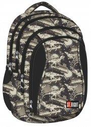 Plecak szkolny ST.RIGHT młodzieżowy w dinozaury, DINOSAURS BP4 (21093)
