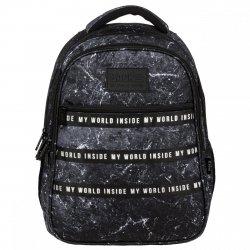 Plecak szkolny młodzieżowy BackUP 28 L marmur TERRA (PLB3I43)