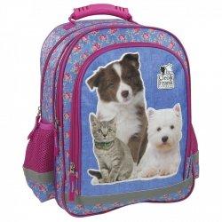 Plecak szkolny CLEO & FRANK PSY I KOTY (PL15BCF15)