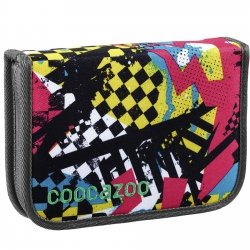 Coocazoo piórnik PenSam, Checkered Bolts Blue (129993)