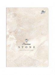 Zeszyt A5 96 kartek w kratkę METALIC Stone Kamień (73109)