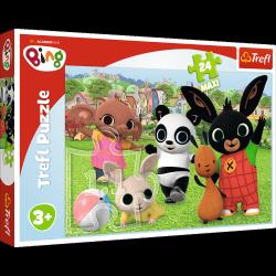 TREFL Puzzle MAXI 24 el. Bing i przyjaciele, Zabawa w parku (14306)