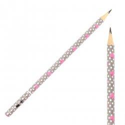 Ołówek szkolny trójkątny KIDEA HB SERCA SERDUSZKA (OTNKA)