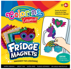 Magnesy na lodówkę COLORINO CREATIVE wzór JEDNOROŻEC (91411PTR)