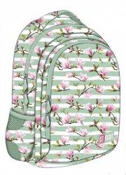 Plecak szkolny młodzieżowy ST.RIGHT kwiat magnolii, MAGNOLIA BP47 (22748)
