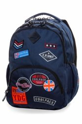 Plecak CoolPack BENTLEY niebieski w znaczki, BADGES BLUE (B24053)