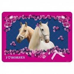 Podkładka laminowana I LOVE HORSES Konie (PLAKO04)
