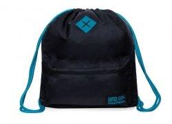 Plecak Sportowy Worek na sznurkach CoolPack URBAN czarny z turkusem, BLACK/MINT (B1302)