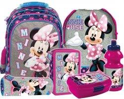 Plecak szkolny Myszka Minnie (PL15BMM21SET6CZ) ZESTAW 6 el.