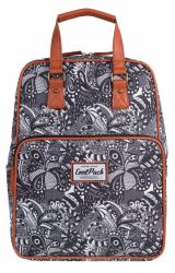 Plecak szkolny młodzieżowy, torebka 2w1 COOLPACK CUBIC czarno białe wzory do kolorowania, BLACK LACE 1033 (72472)