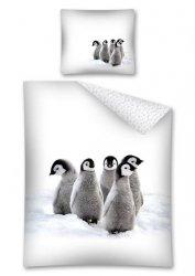 Komplet pościeli pościel 160 x 200 cm z Pingwinami (2443A)