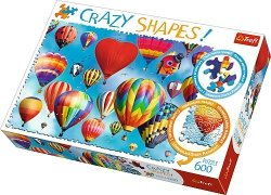 TREFL Puzzle 600 el. Crazy Shapes Kolorowe balony (11112)