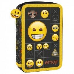 Piórnik z wyposażeniem, dwukomorowy Emoji EMOTIKONY (PWDEM11)