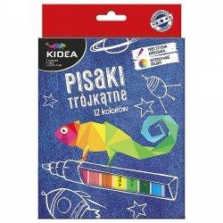 Pisaki trójkątne 12 kolorów KIDEA (PT12KA)