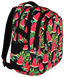 Plecak szkolny ST.RIGHT Watermelon czarny w arbuzy BP1 młodzieżowy (18659)