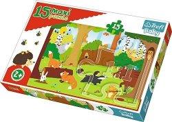 TREFL Puzzle 15 Maxi Zwierzęta w lesie (14276)