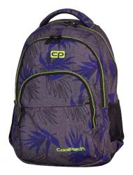 Plecak szkolny młodzieżowy COOLPACK BASIC szary w niebieskie liście, PALM LEAVES 971 (71093)