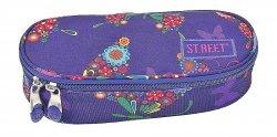 Piórnik szkolny ST.REET fioletowy w kolorowe motyle BUTTERFLY (08834)
