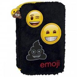 Piórnik dwukomorowy futrzak Emoji EMOTIKONY (PDFEM11)
