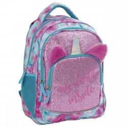 Plecak szkolny młodzieżowy BackUP 24 L BROKATOWY JEDNOROŻEC (PLB3Y57)