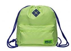 Plecak Sportowy Worek na sznurkach CoolPack URBAN zielony z granatowymi dodatakmi, LEMON/VIOLET (B1304)