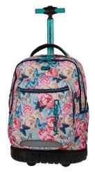 Plecak szkolny młodzieżowy na kółkach COOLPACK SWIFT kwiaty i motyle, BUTTERFLIES 1068 (80156)